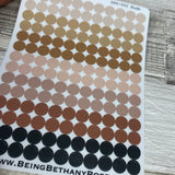 TRANSPARENT quarter inch dot stickers (DPD052 Nude colour)