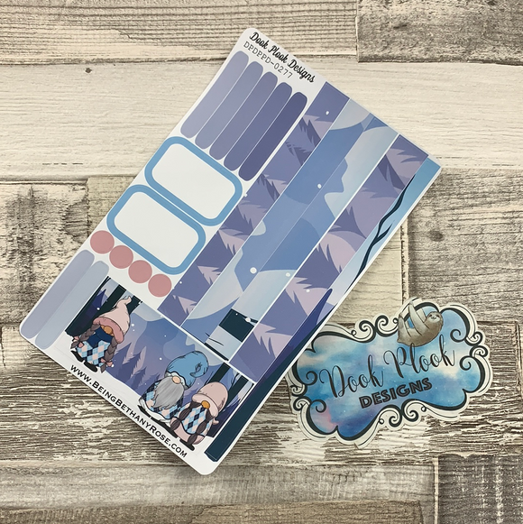 (0277) Passion Planner Daily stickers - Argyle Blue Gonk