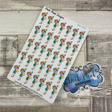 Reading / Studying/ Book Stack girl stickers (DPD-1324)