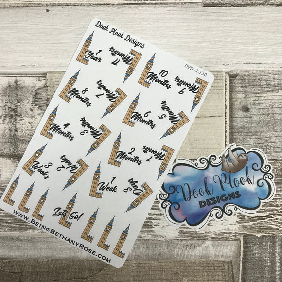 London Countdown stickers (DPD1330)
