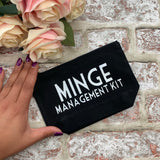 Minge Management Kit (White)- Tampon, pad, sanitary bag / Period Pouch