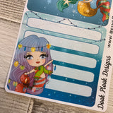 Erin Condren Month Note Pages (Christmas Mermaids)