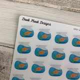 Fish bowl stickers (DPD469)