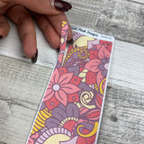 Passion Planner Hour Cover up / Washi strip stickers (Pink Flowers DPDW-22)