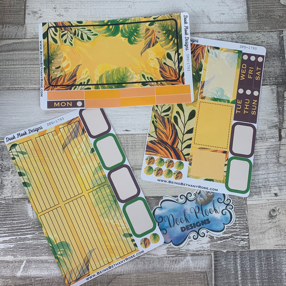 Yellow Jungle Passion Planner Week Kit (DPD1793)