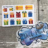 Christmas Presents stickers (Small Sampler Size) A725