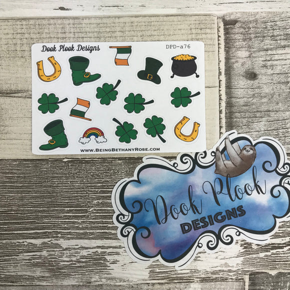 St Patrick's Day stickers (Small Sampler Size) A76