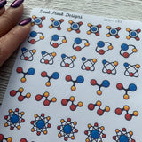 Science Atom stickers (DPD1182)