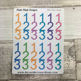 Number list 123 stickers (DPD600)
