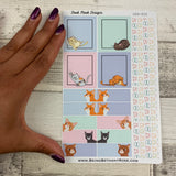 Cat week sticker set for Erin Condren Horizontal (DPD850)