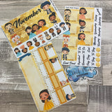Ham Fam (can change month) Monthly View Kit for the Erin Condren Planners