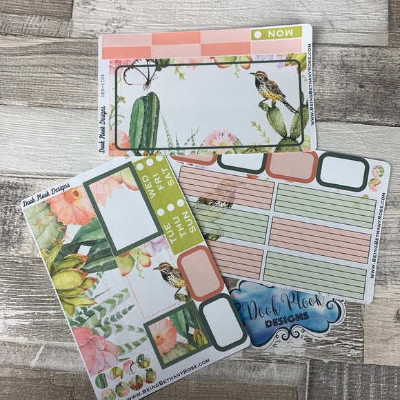 Succulents and bird Passion Planner Week Kit (DPD1704)