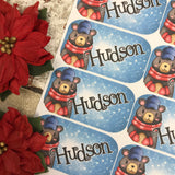 Personalised kids / adults Christmas Present Labels. (31 Bear)