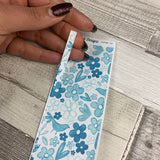 Passion Planner Hour Cover up / Washi strip stickers (Blue porcelain DPDW-32)