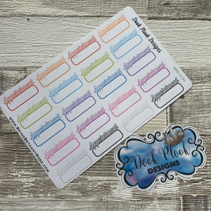 Appointment stickers  (DPD1131)