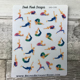 Water colour yoga stickers (DPD596)