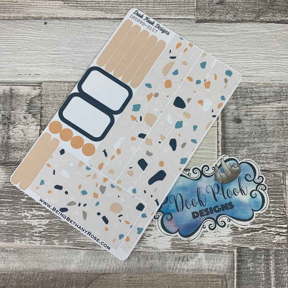 (0157) Passion Planner Daily stickers - Terrazzo Muted