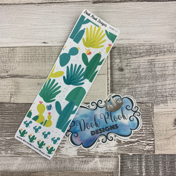 Passion Planner Hour Cover up / Washi strip stickers (Cactus Print DPDW-11)