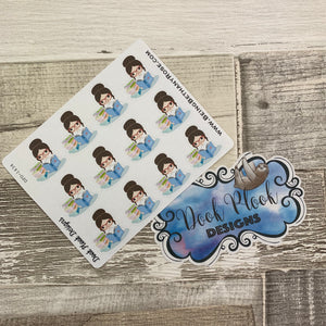 White Woman - Reading Book Stickers (DPD1434)