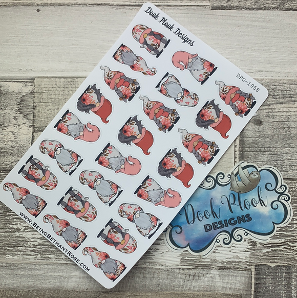 Valentines Hearts and Flowers Gonk Character Stickers (DPD-1958)