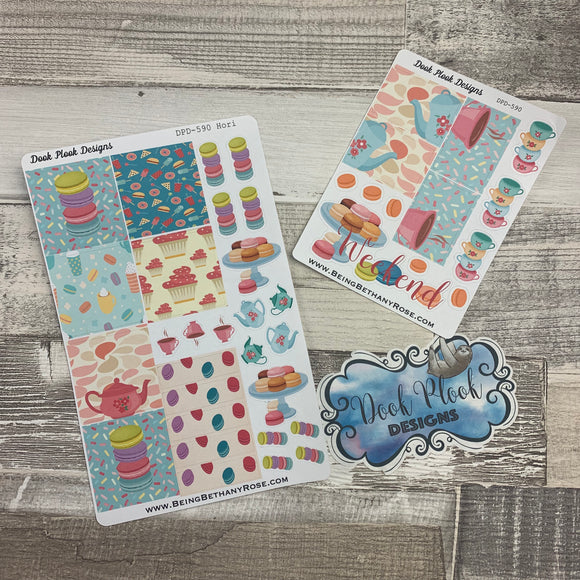 Tea party week (horizontal) sticker set (DPD590)