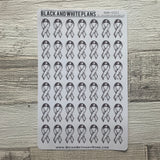 Hand drawn Awareness Ribbon stickers (BNW0021)
