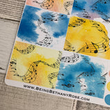 Music box stickers for Erin Condren (DPD452)