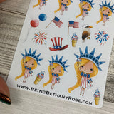 American Girl (New York) stickers (DPD1458)