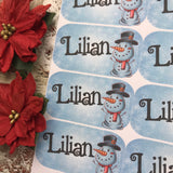 Personalised kids / adults Christmas Present Labels. (9 snowman)
