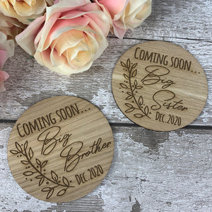 Coming soon... Big Sister pregnancy announcement photo prop