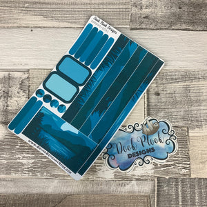 (0041) Passion Planner Daily stickers - Into the blue