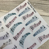 Music divider / header stickers  (DPD1191)