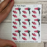Hair dryer and roller stickers (DPD535)