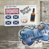 Burns Night stickers - Small Sampler Size (A714)