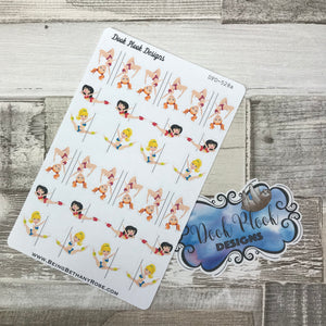 Pole  dancing / pole fitness stickers  (DPD528)