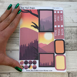 Mountain Sunset Passion Planner Week Kit (DPD1623)