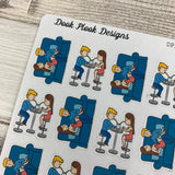 Date night / night in / night out sticker (DPD1282)