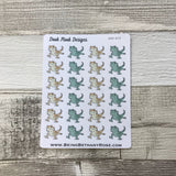 Bearded dragon stickers  (DPD619)