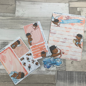 Erin Condren Month Note Pages (Cupid, Black Skin)