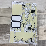 (0186) Passion Planner Daily stickers - Eggshell bold print leaf