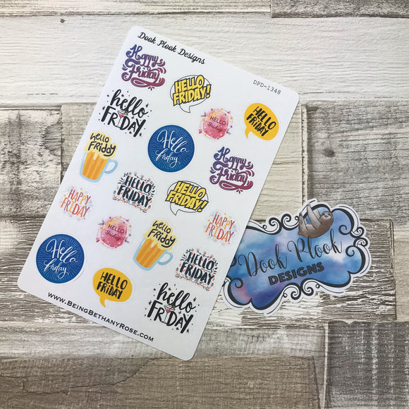 Hello Friday  stickers  (DPD1348)