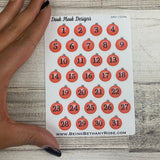 Bauble date dots (2 sizes) stickers (DPD1524)