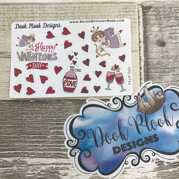 Valentine's Day stickers (Small Sampler Size) A742