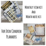 Erin Condren Monthly View AND Notes Kit Bundle (6 month)