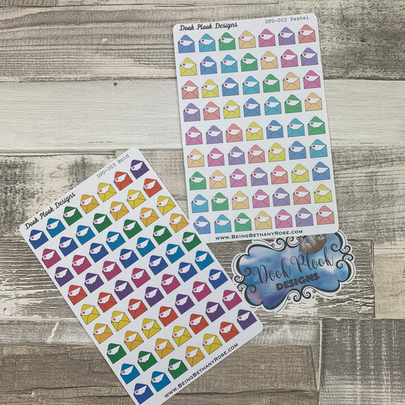 Happy mail envelope stickers (DPD003-004)