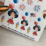 American Girl (Balloons) stickers (DPD1459)