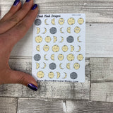 Moon phase stickers (DPD1048)