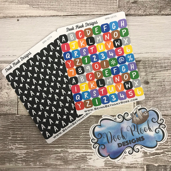 Initial / letter (choose letter and colour)stickers (DPD1273)