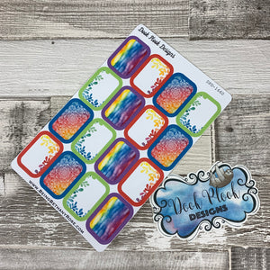 Rainbow half box stickers (DPD1662)