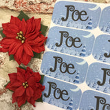 Personalised kids / adults Christmas Present Labels. (29 landscape)